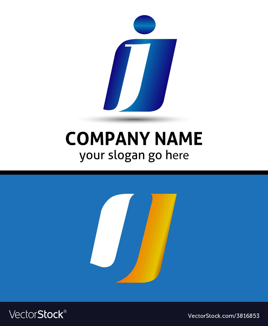 Letter j company logo icon template vector