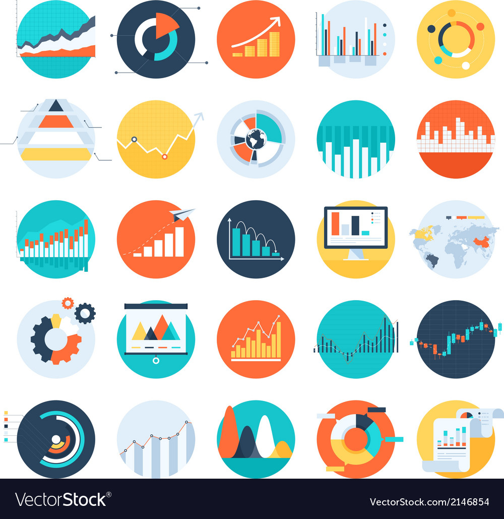 Business charts vector