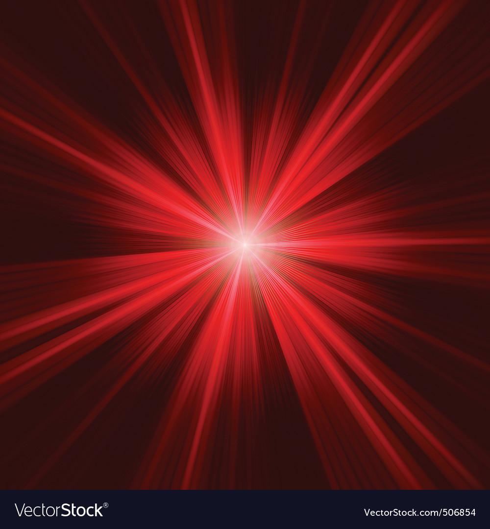 Red bursting star on dark background eps 8 vector