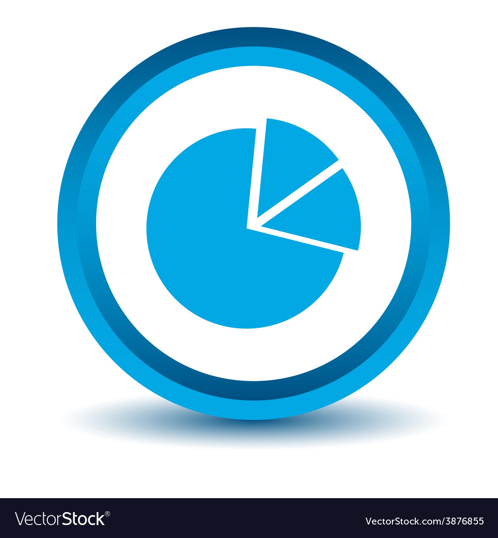 Blue circle chart icon vector
