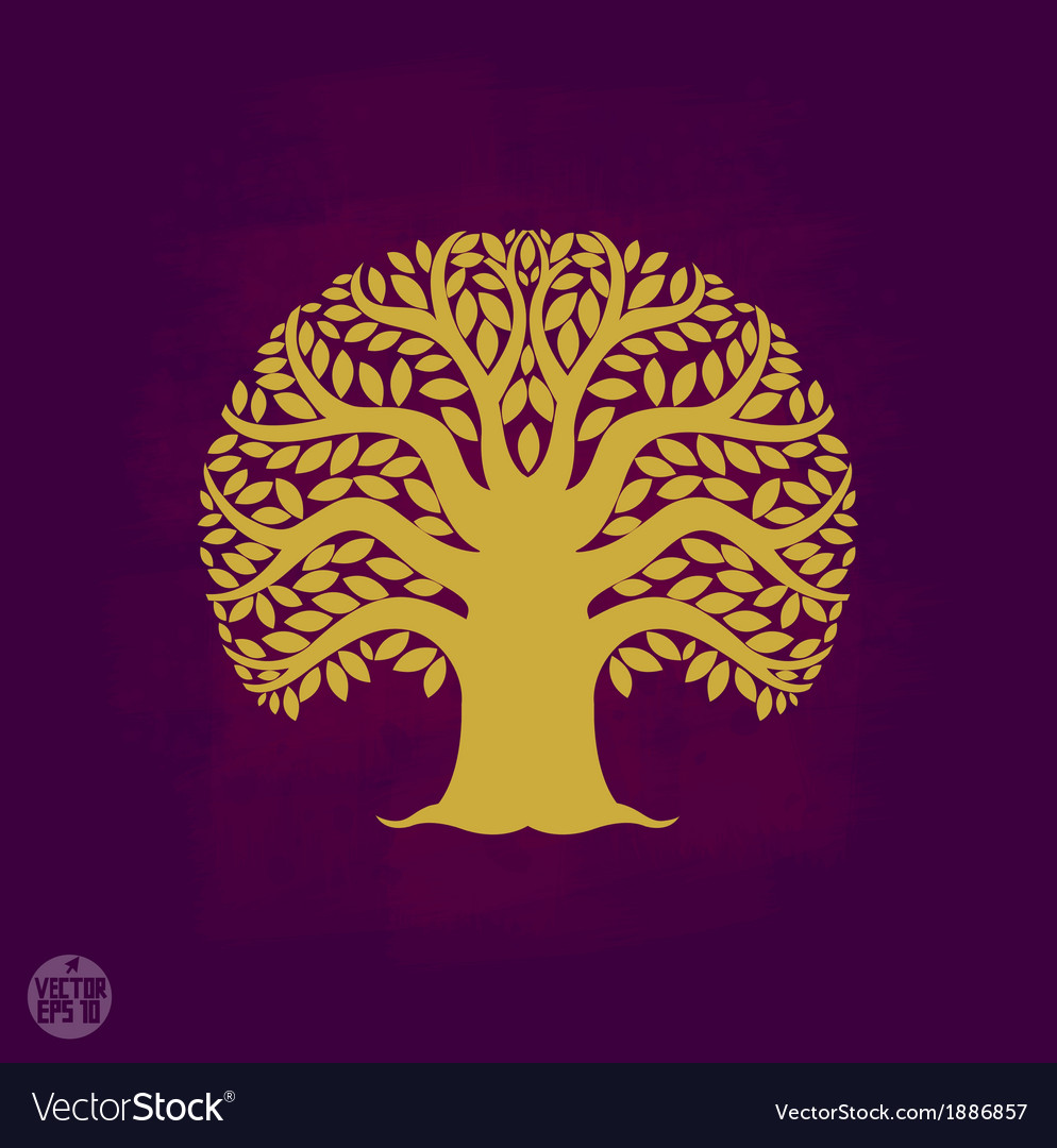 Tree symbol asia style vector