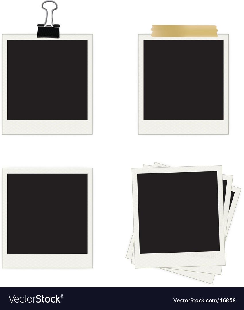 Photo frames collection vector