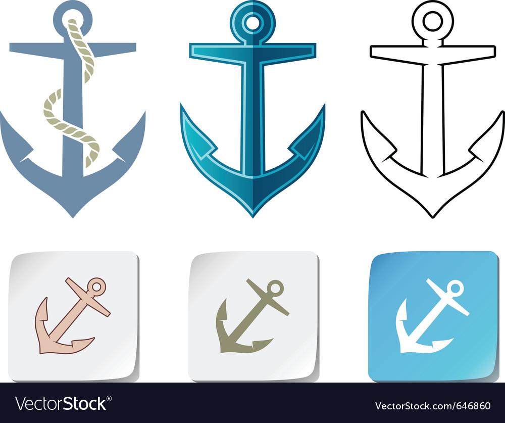 Anchor icons vector