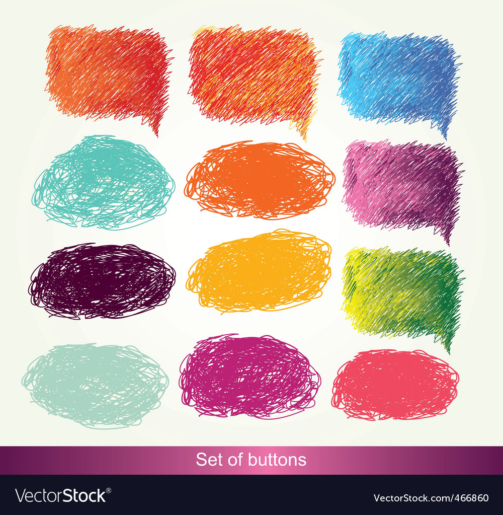 Set of shaded buttons vector