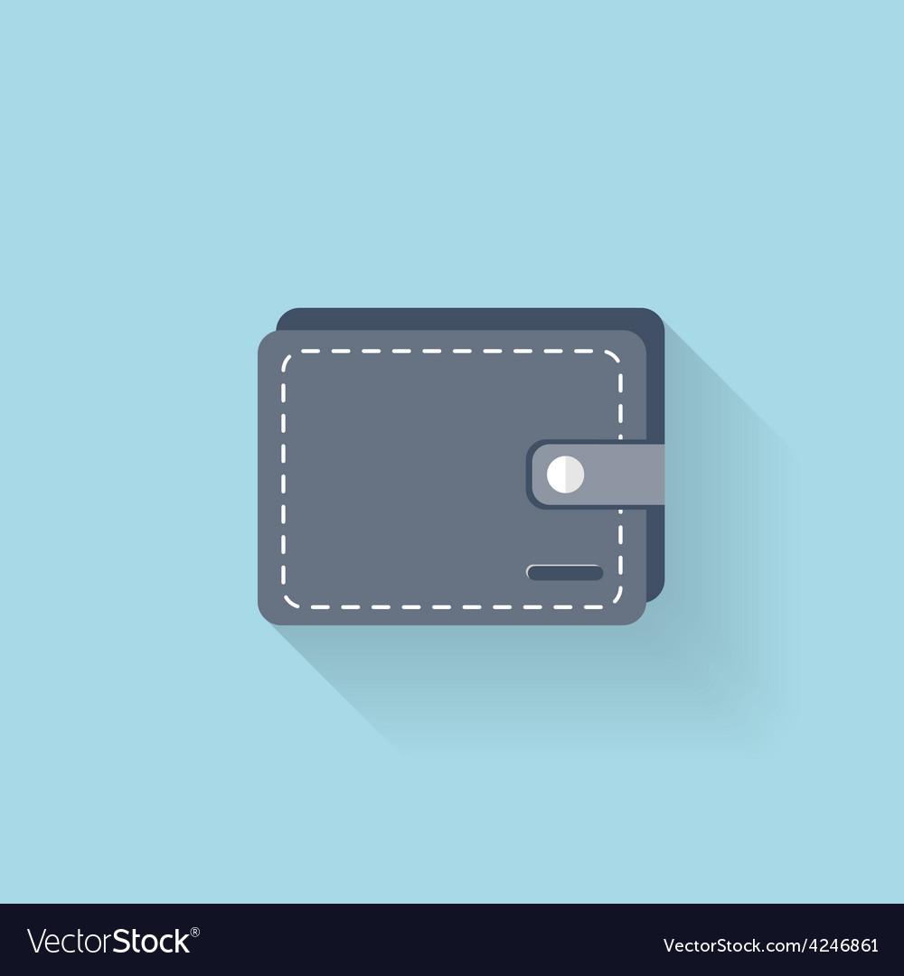 Flat web icon wallet vector