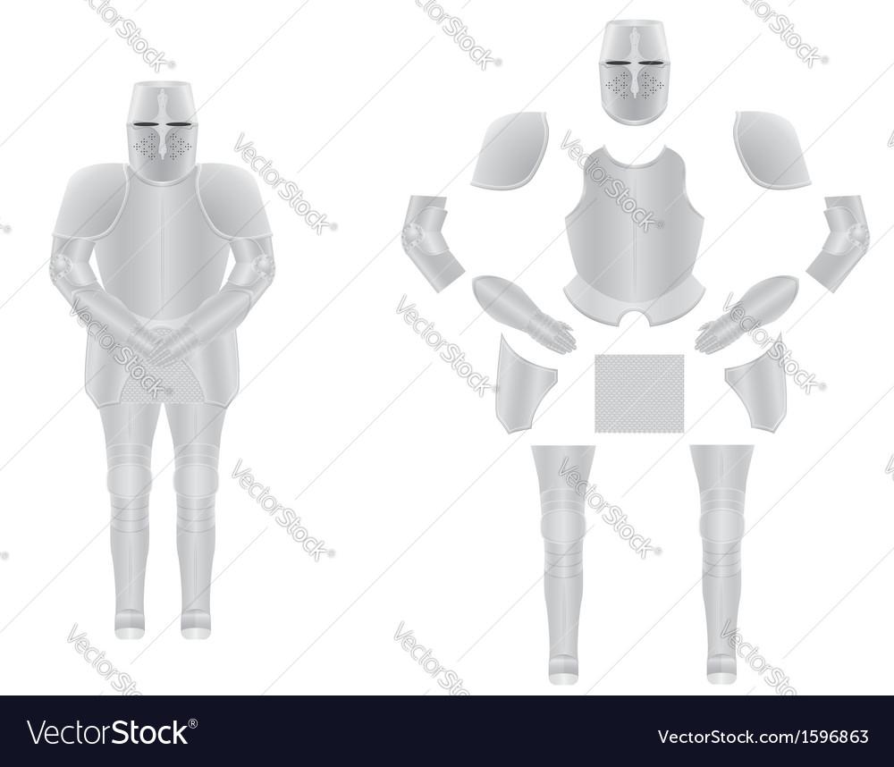 Knight armor 02 vector