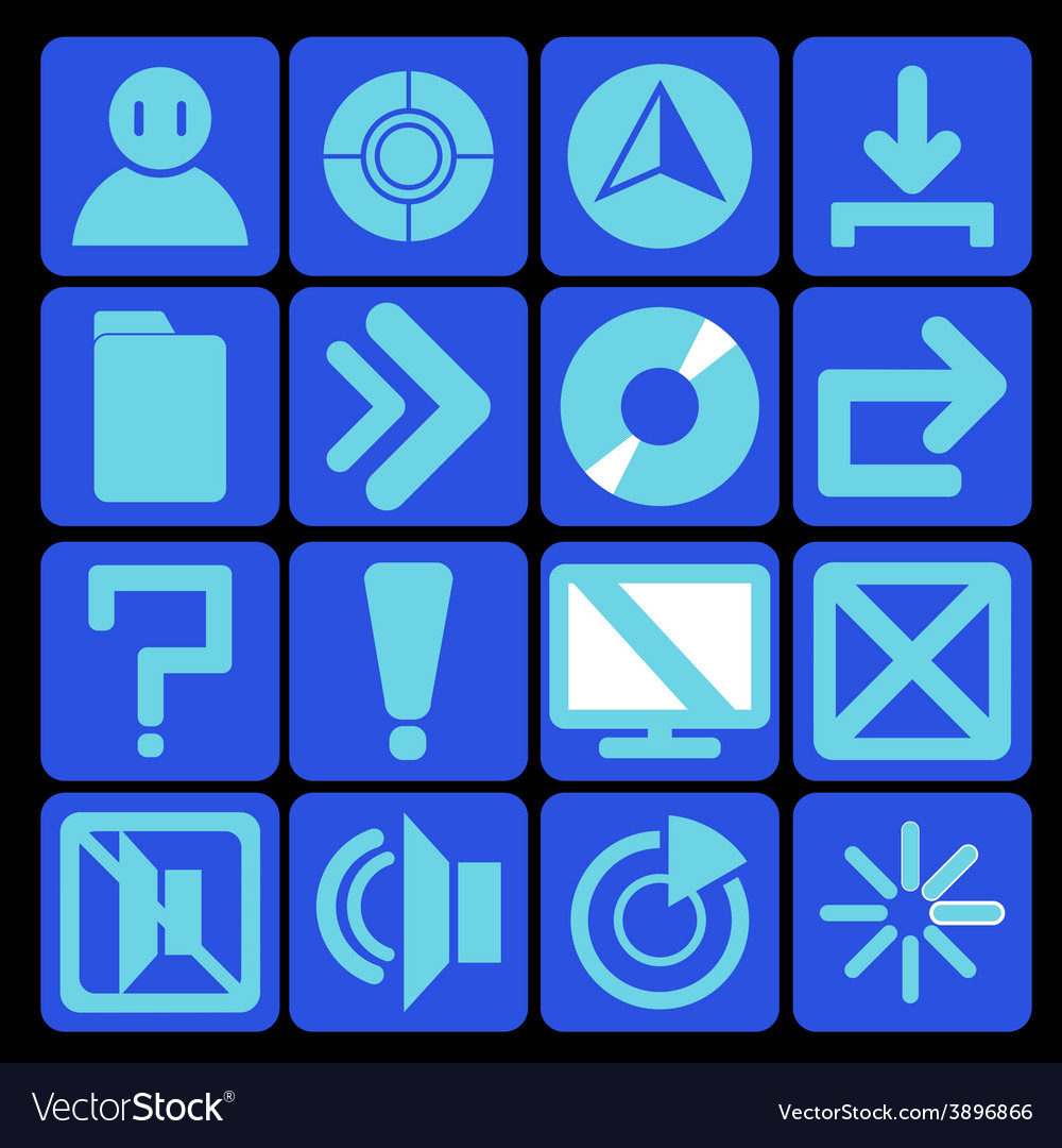 Icon technology blue vector