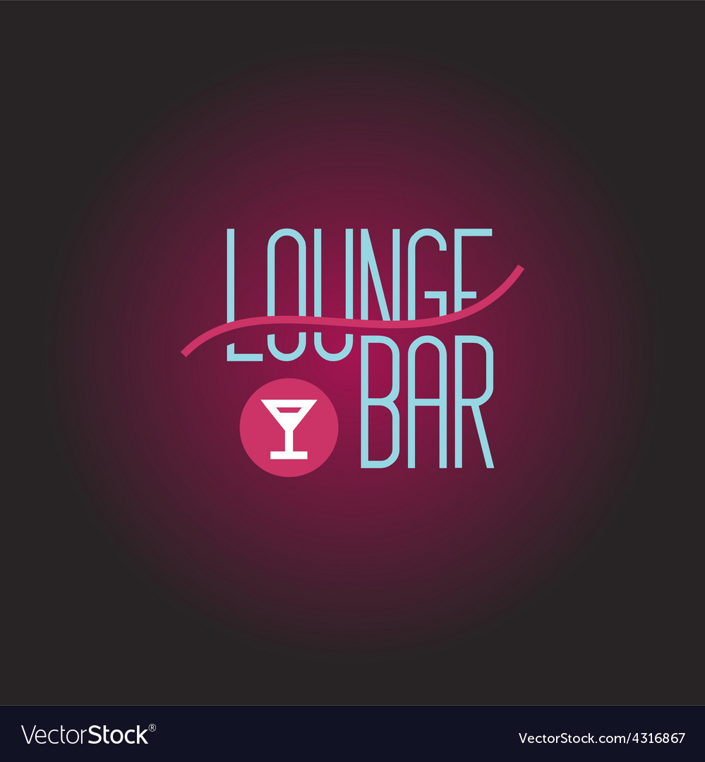Lounge bar logo template vector