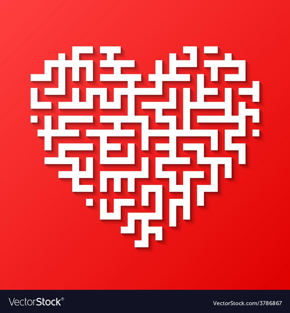 Maze heart vector