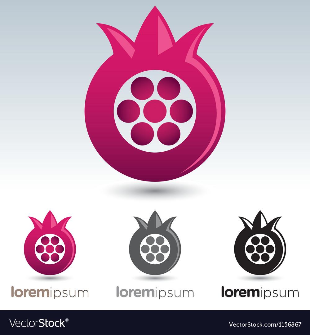Pomegranate icon vector
