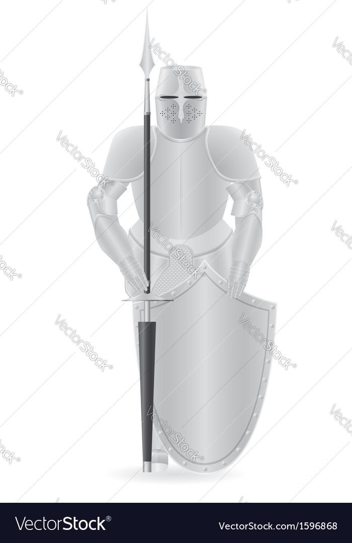 Knight armor 04 vector