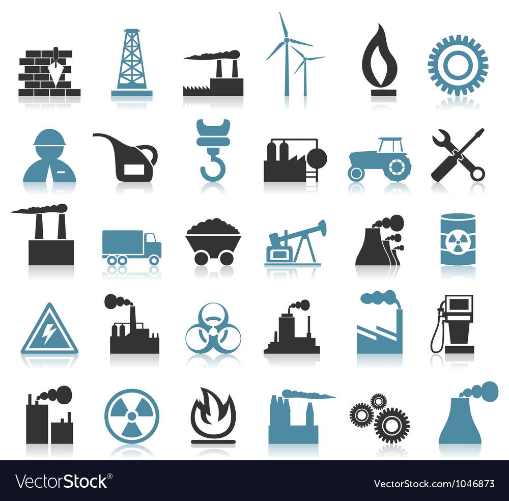 Industrial icons8 vector