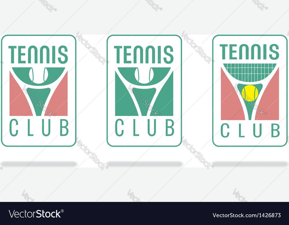 Tennis club logo vector
