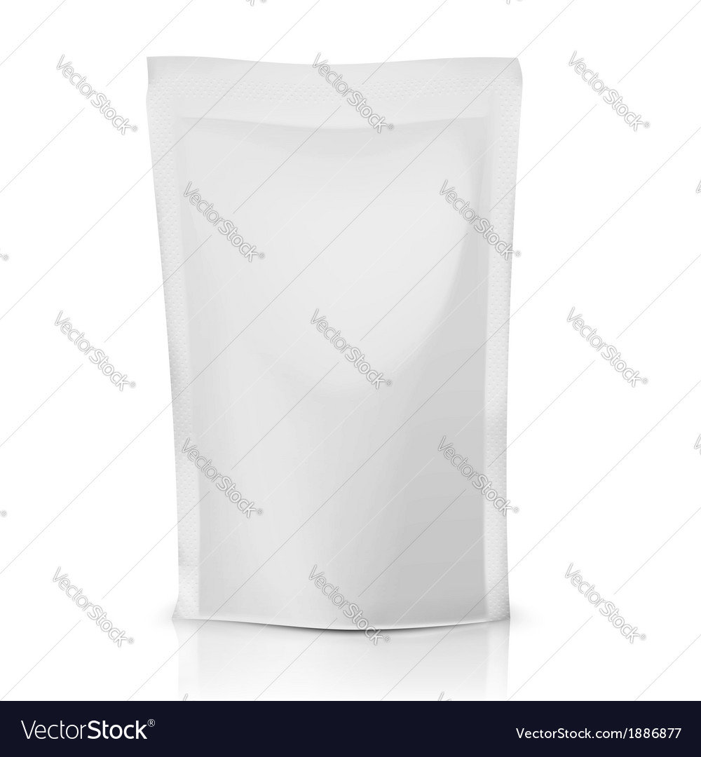 Blank polythene bag package vector