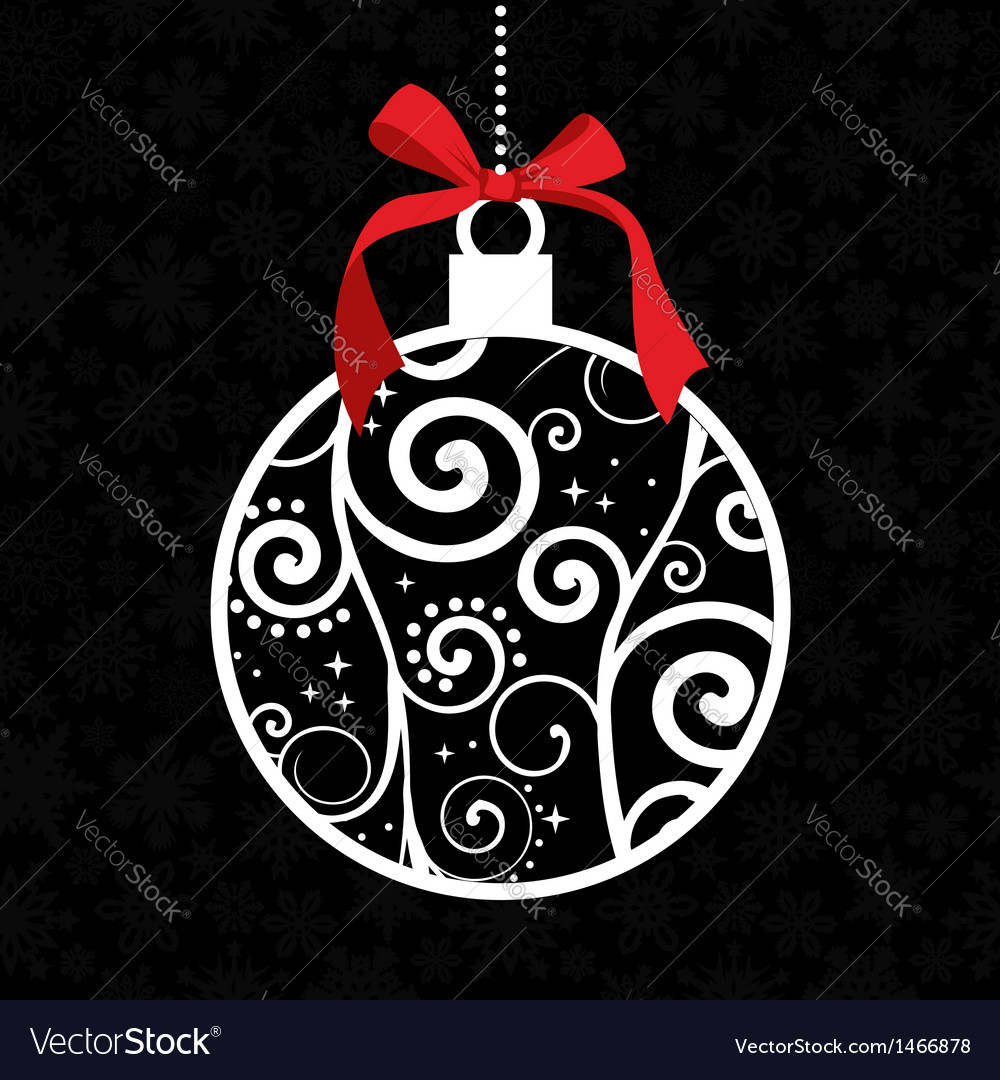 Elegant christmas hang bauble vector