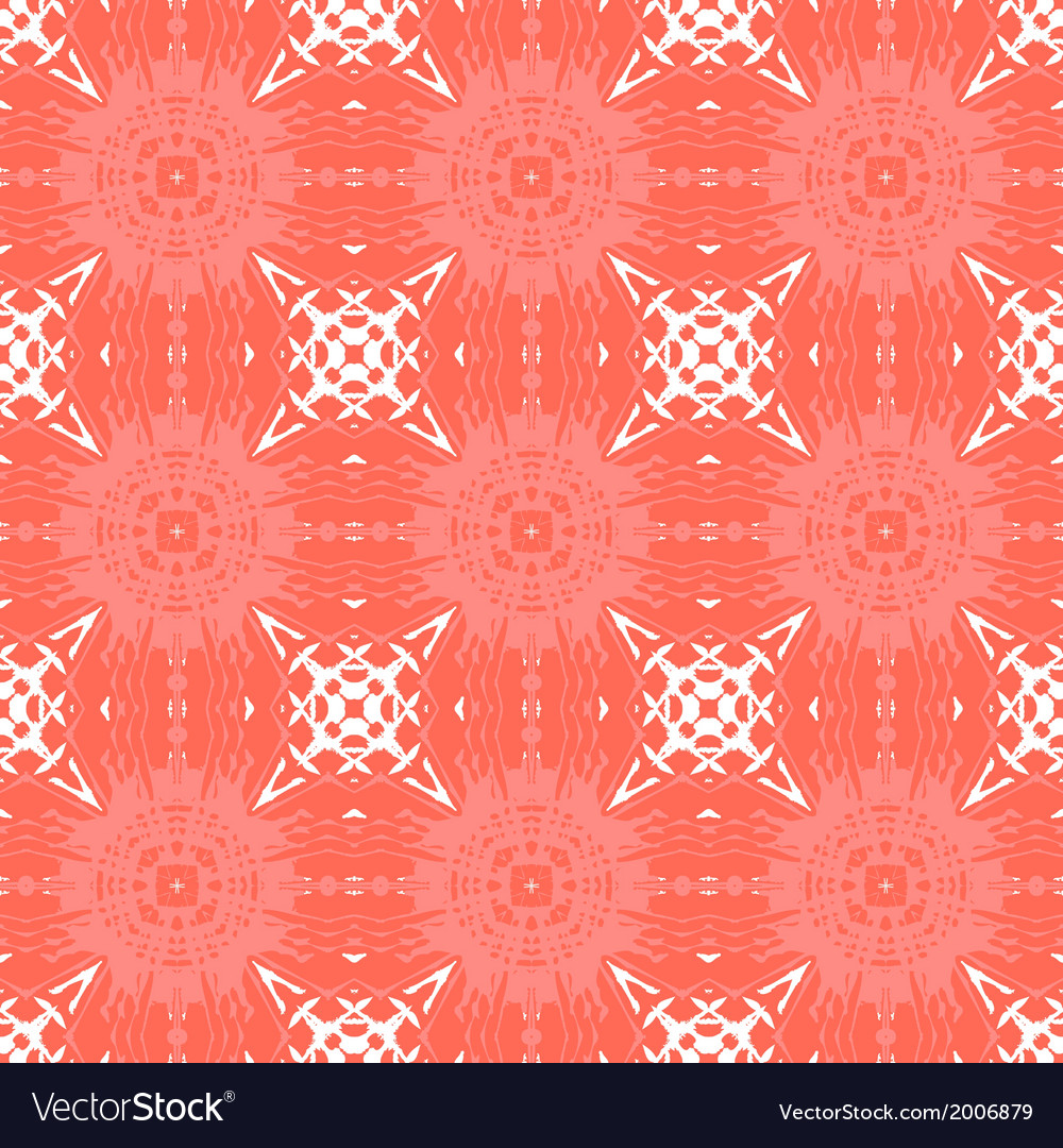 Geometric art deco pattern with organic shapes vector