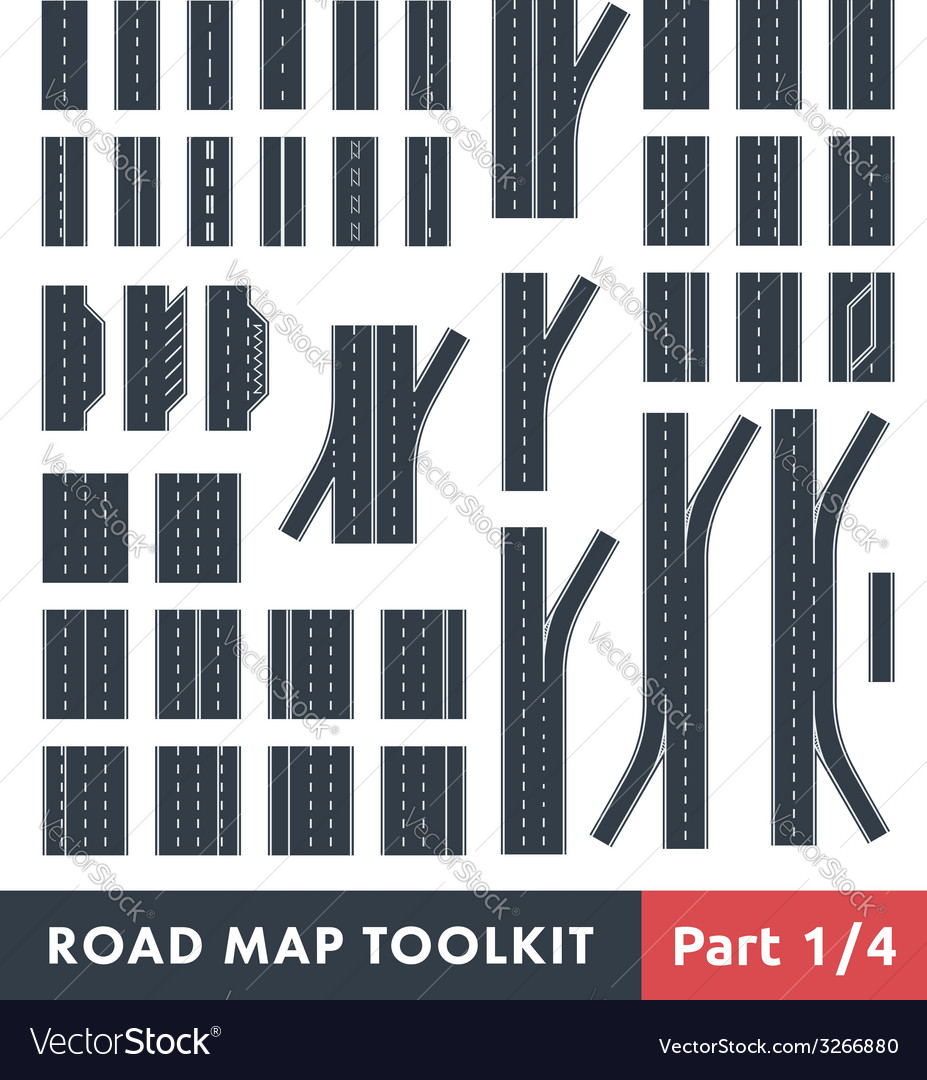 Road map toolkit vector