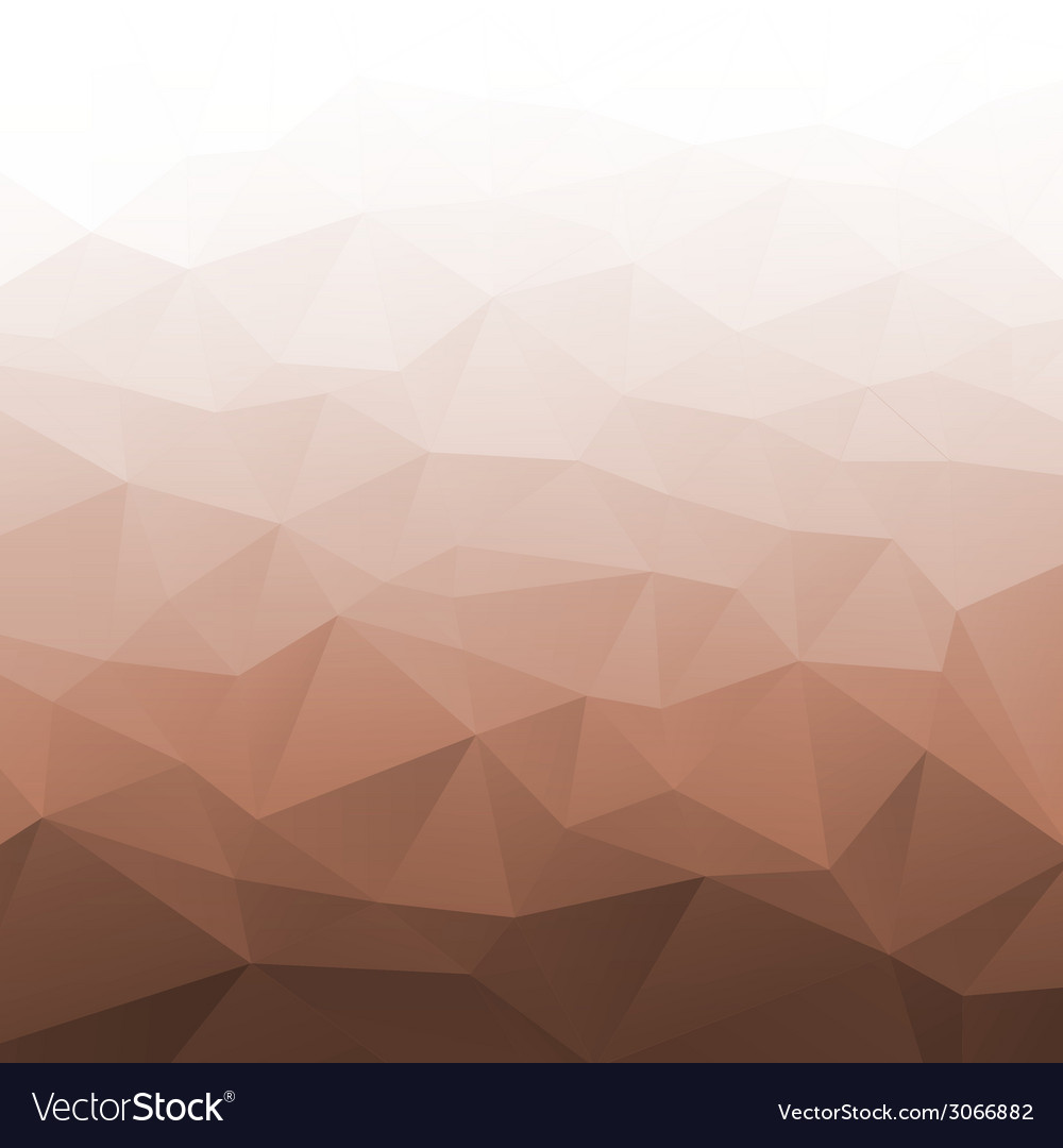 Abstract gradient brown geometric background vector