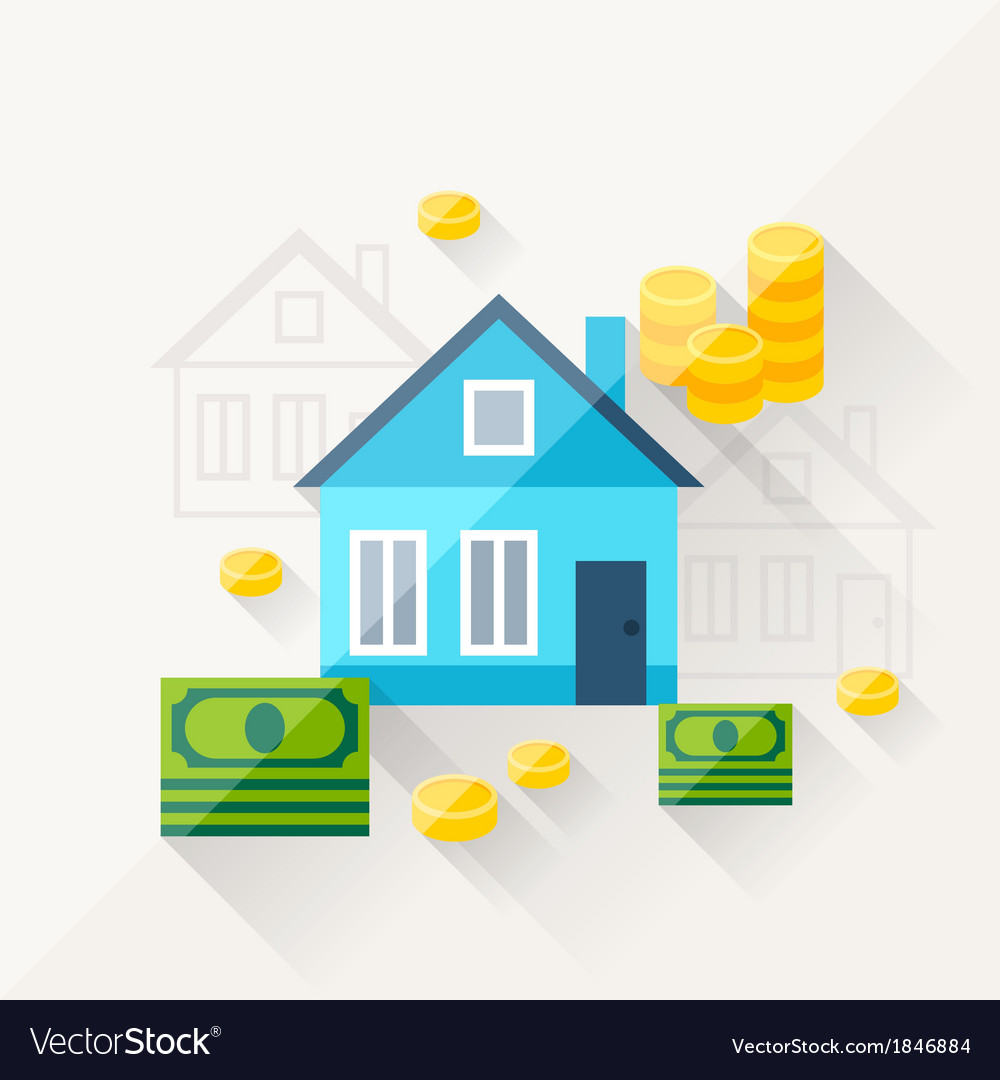 Concept of mortgage in flat design style vector