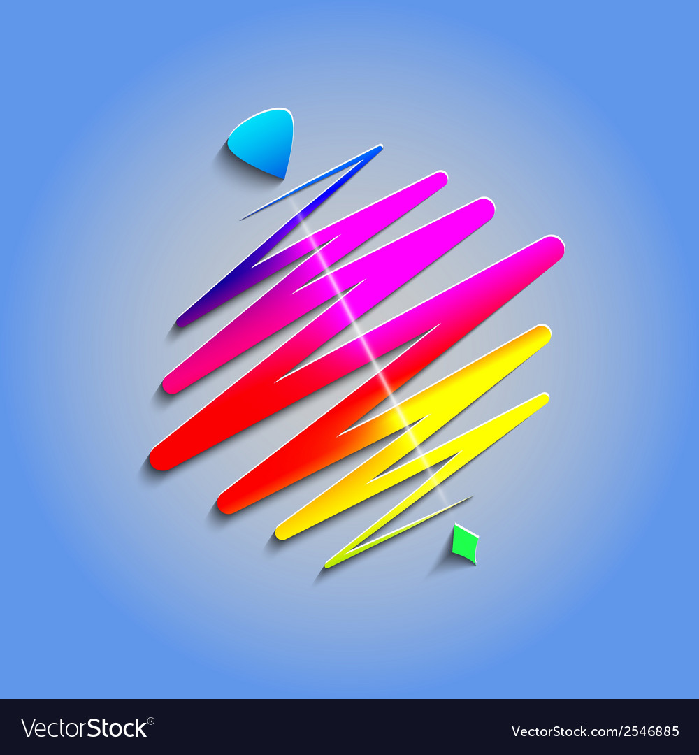 Modern color whirligig on an abstract background vector
