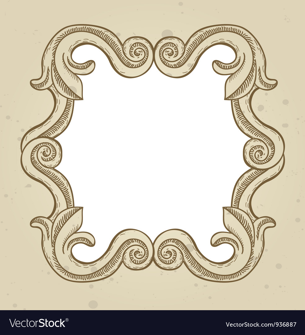Vintage frame with copy space for text vector