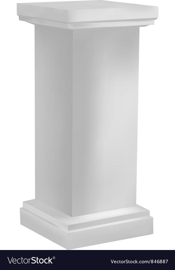 White pedestal vector