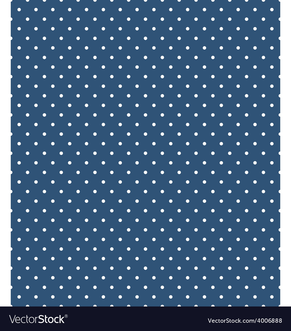 Seamless dot pattern white dots on blue vector