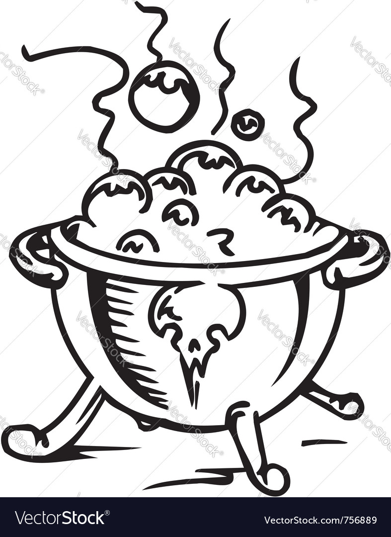 Pot with a potion - vector