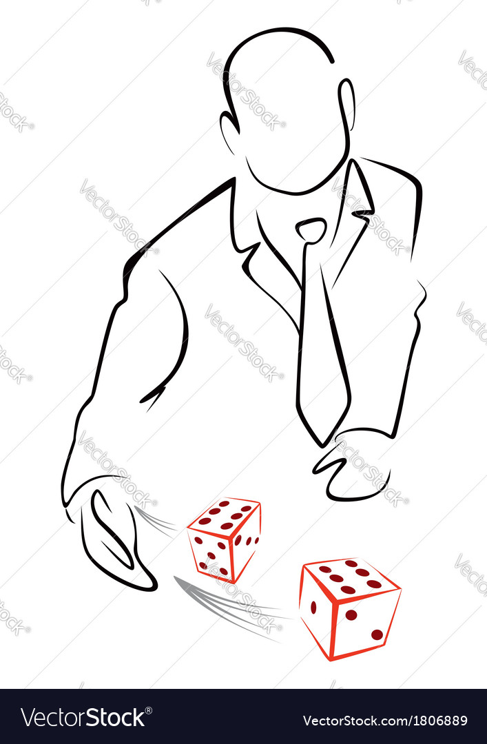 Rolling dices vector