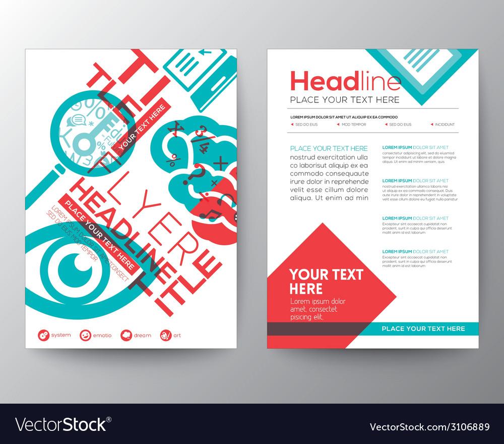 Typography brochure flyer design layout template vector
