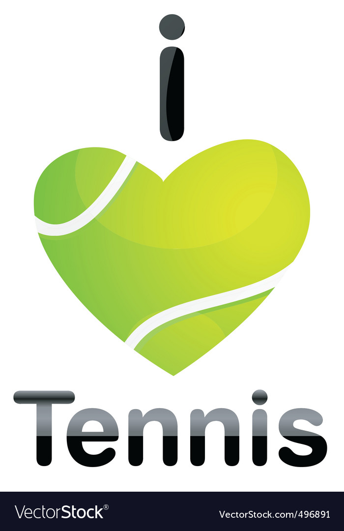 I love tennis vector