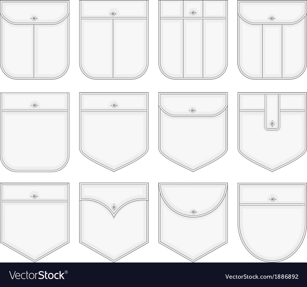 Shirt pockets vector