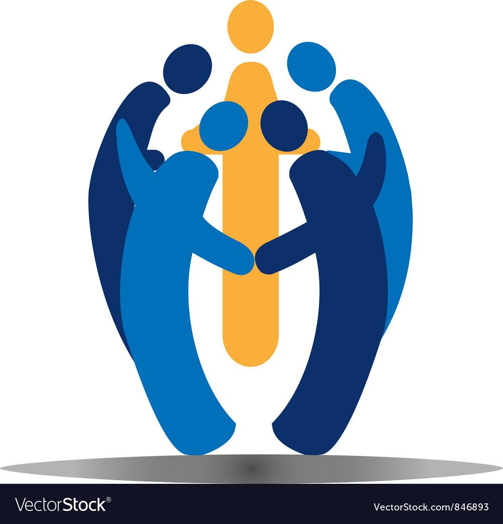 Teamwork social people vector