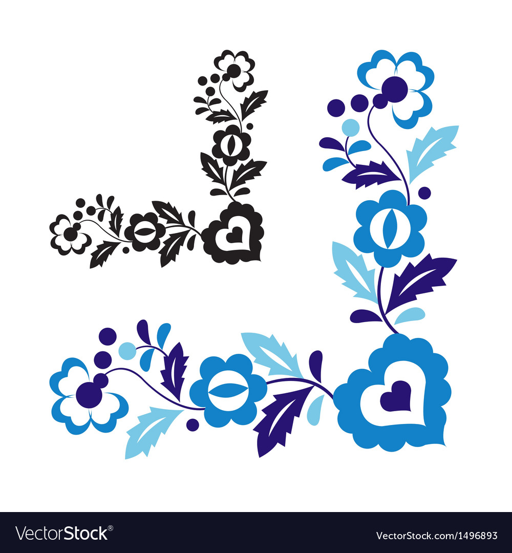 Traditional folk ornament vector