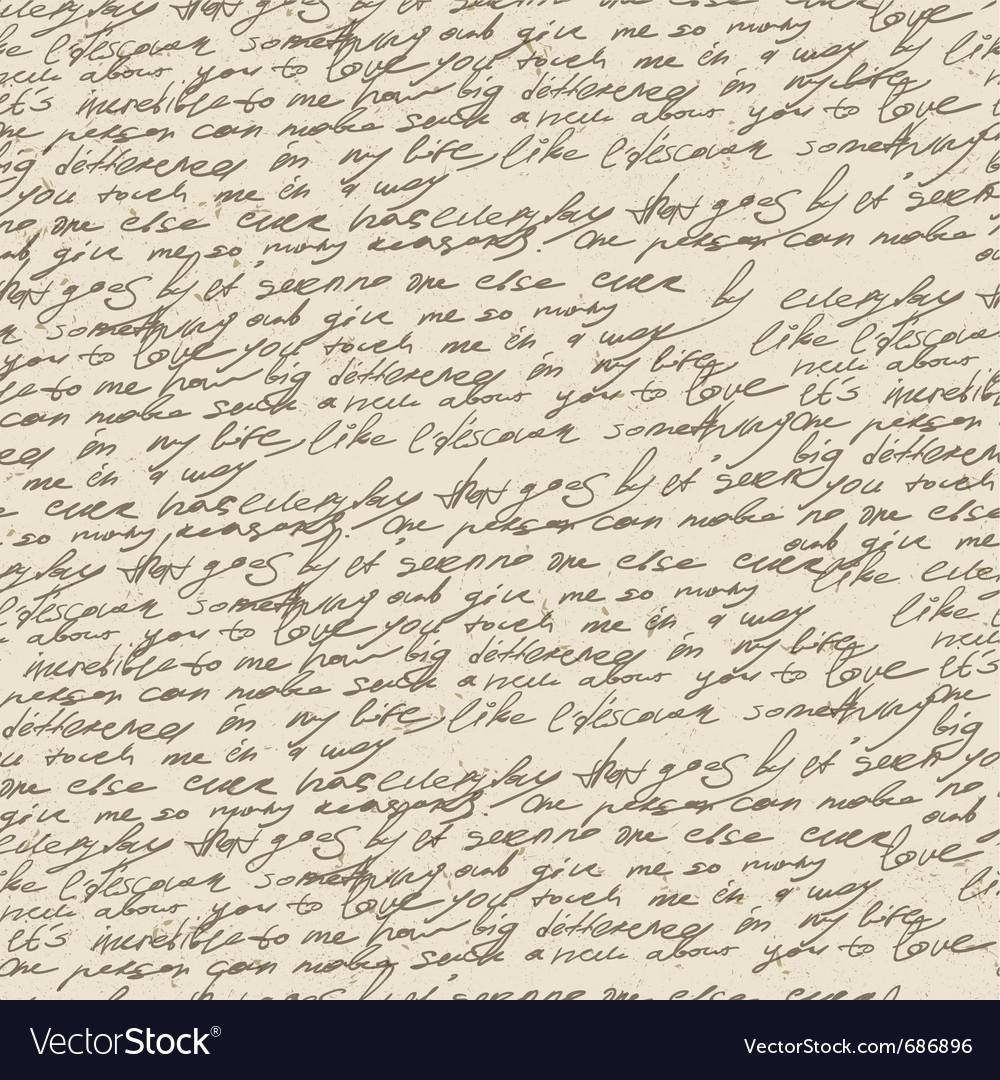 Handwriting background vector