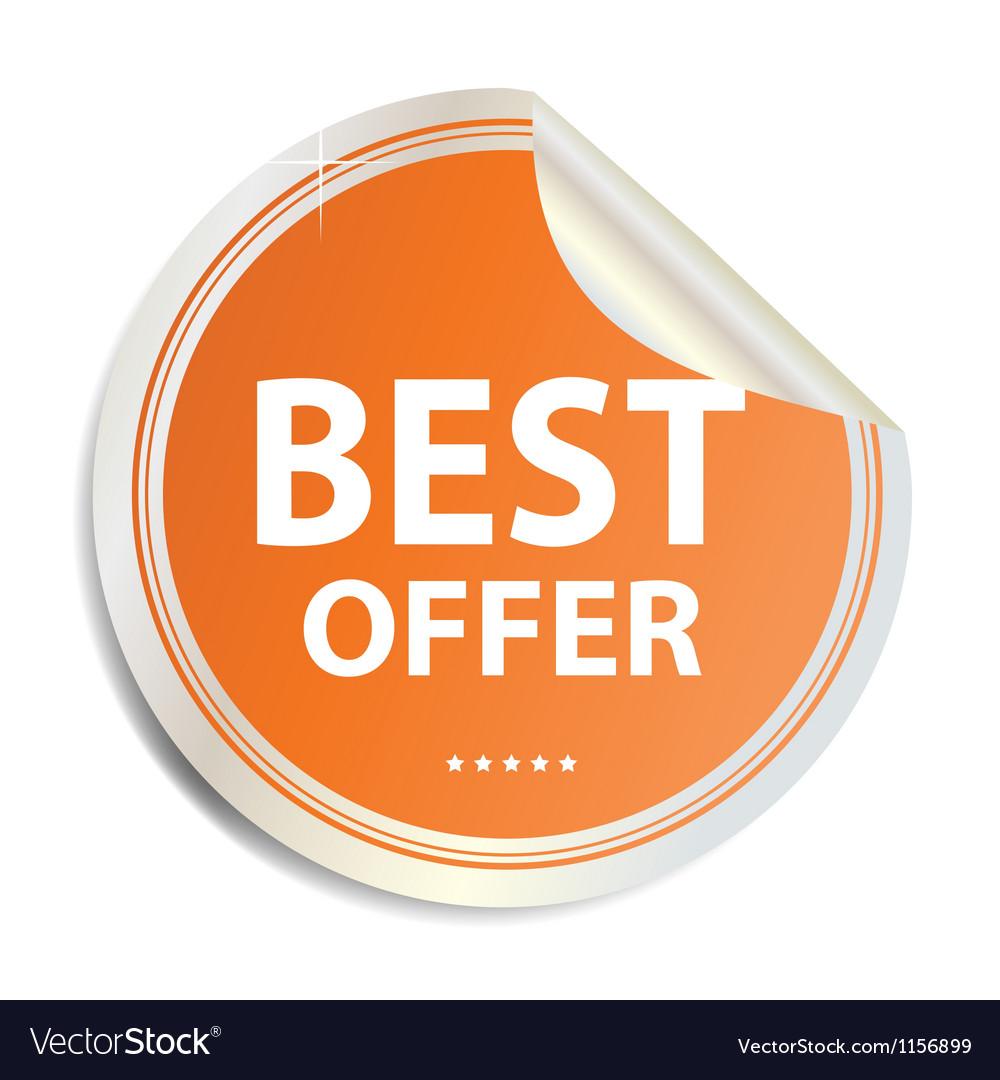 Best offer label sticker vector