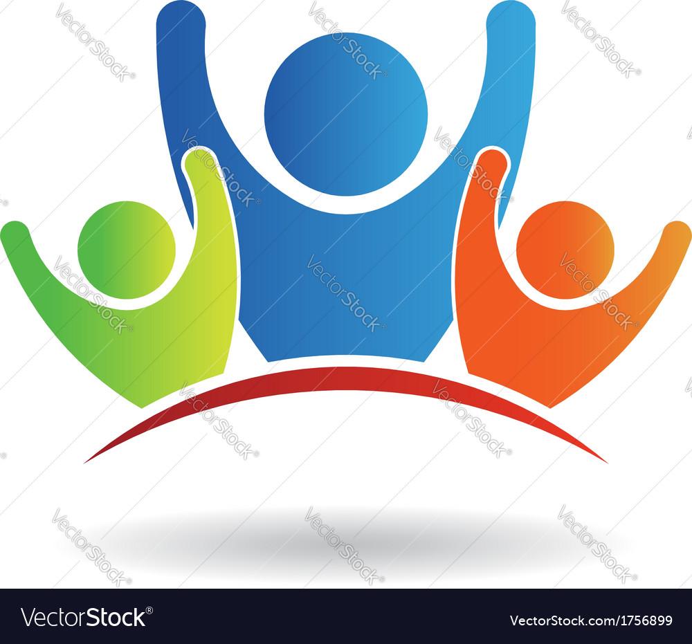 Team family logo vector