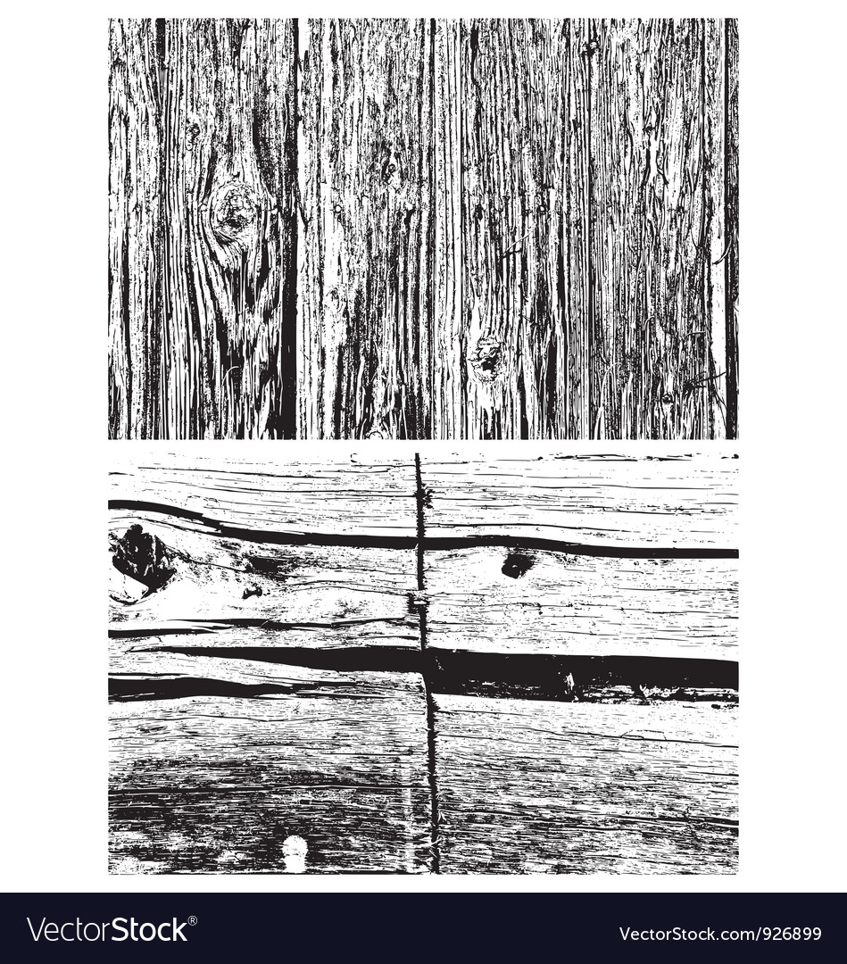 Two wood textures vector