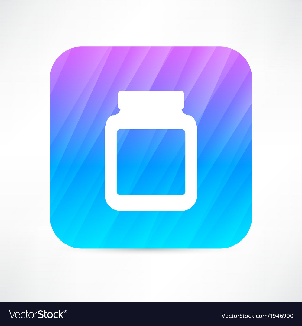 Medicine jar with pills vector