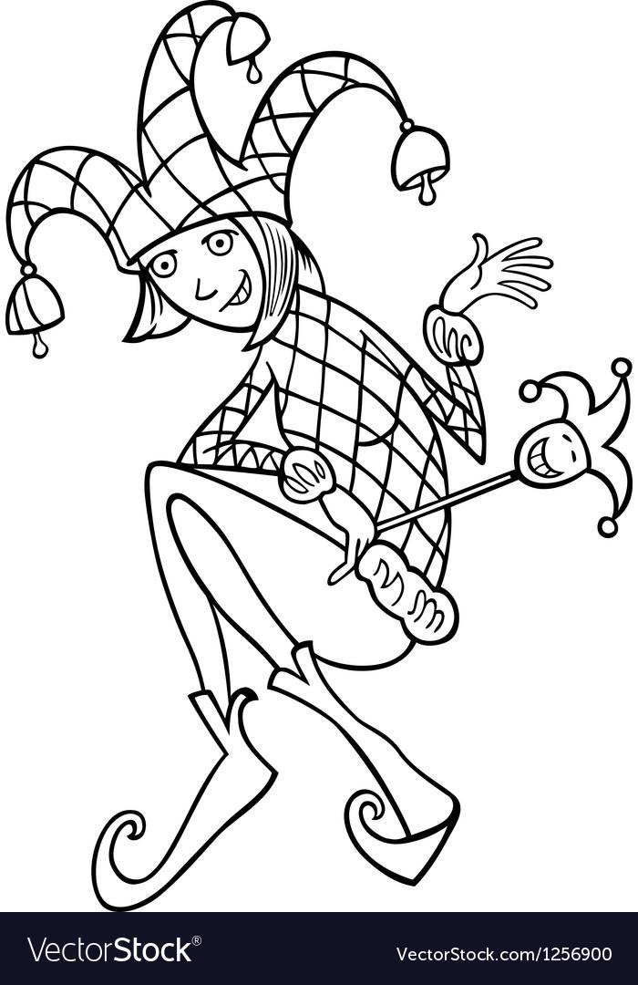Woman in jester costume cartoon vector