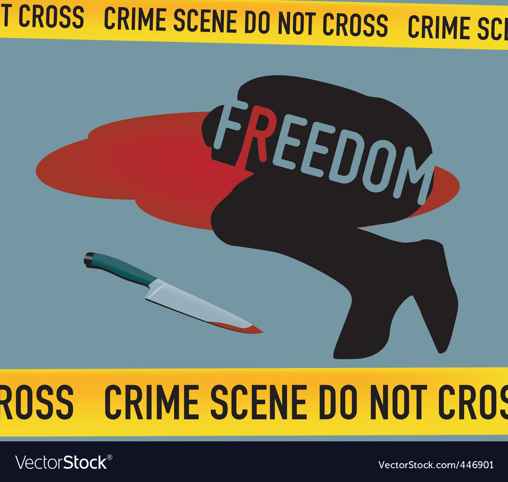Crime scene freedom is dead vector