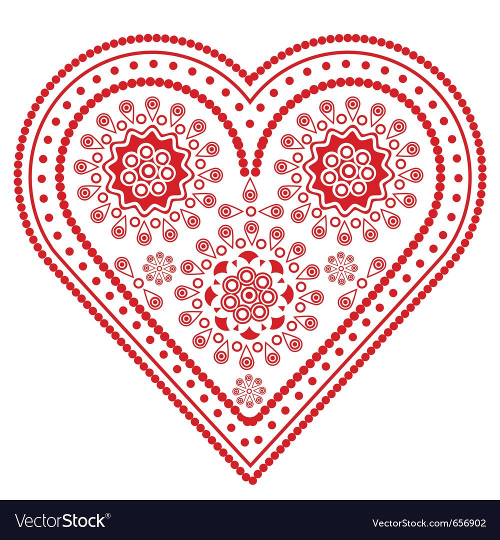 Fancy valentine heart vector