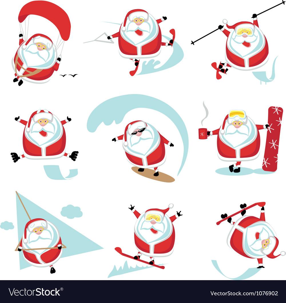 Santa extreme set1 vector