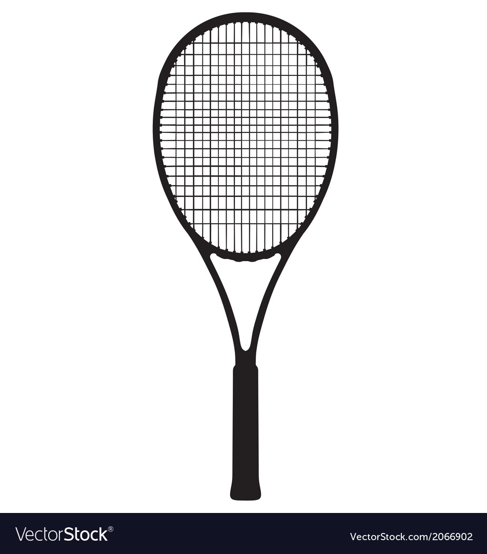 Tennis racquet vector