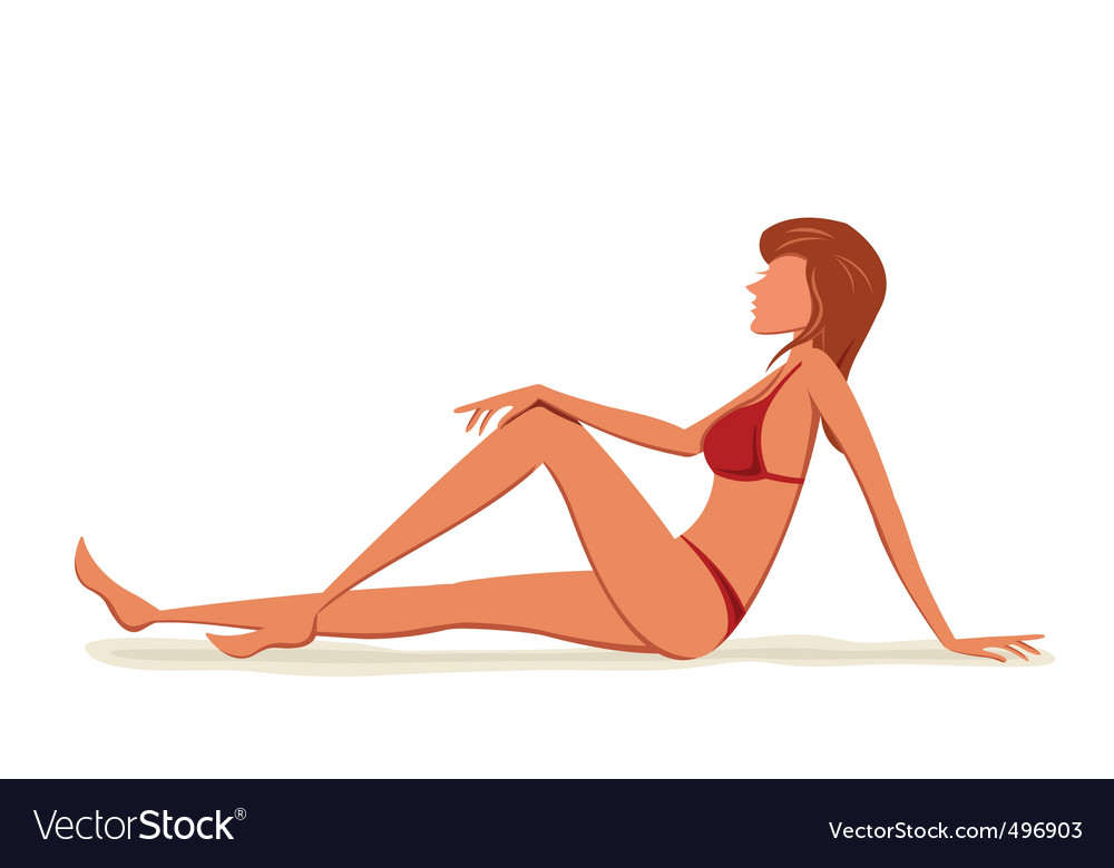 Model lady vector