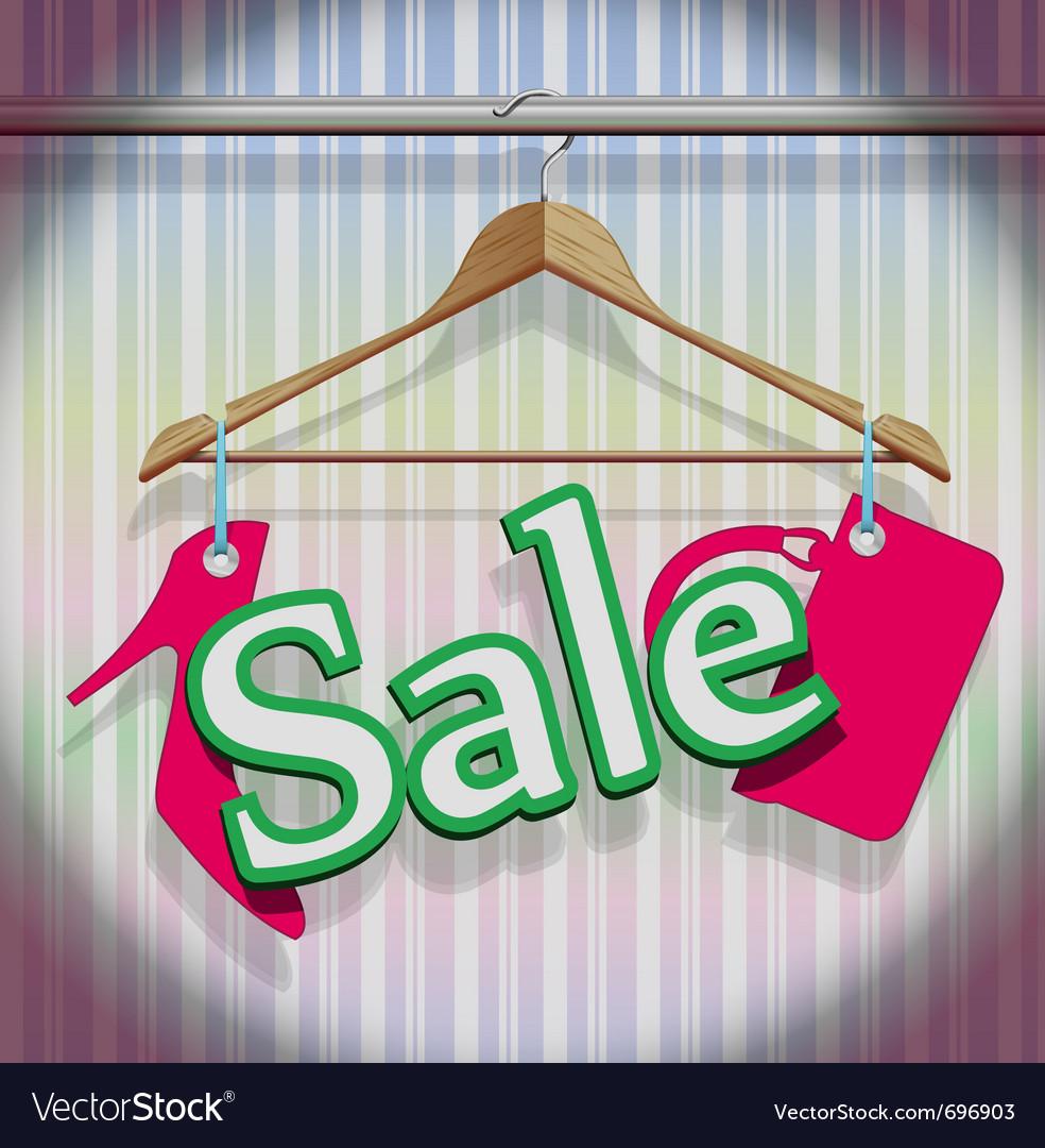 Sale clothing hangers vector