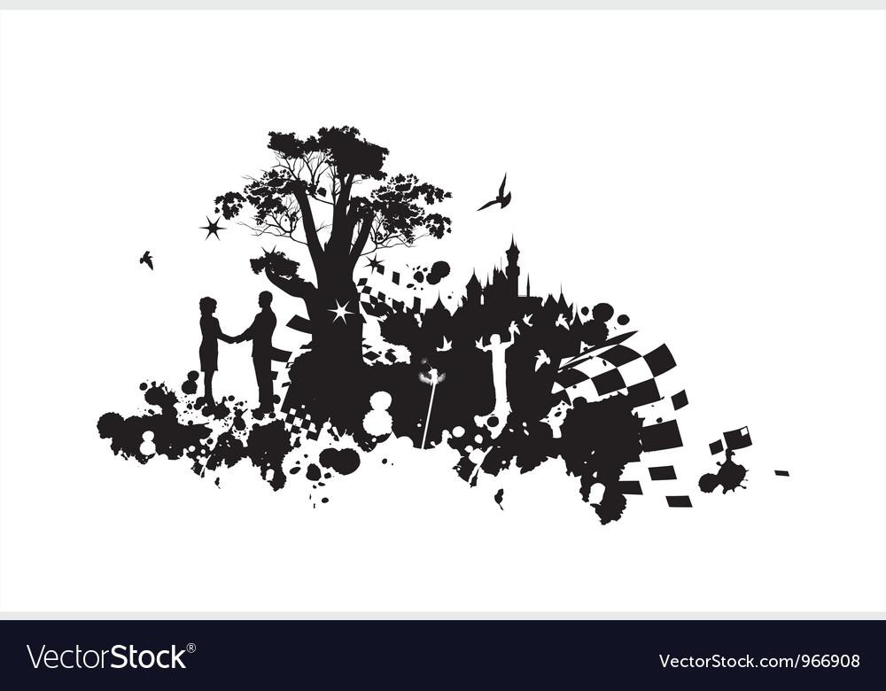 Castle romance concept vector