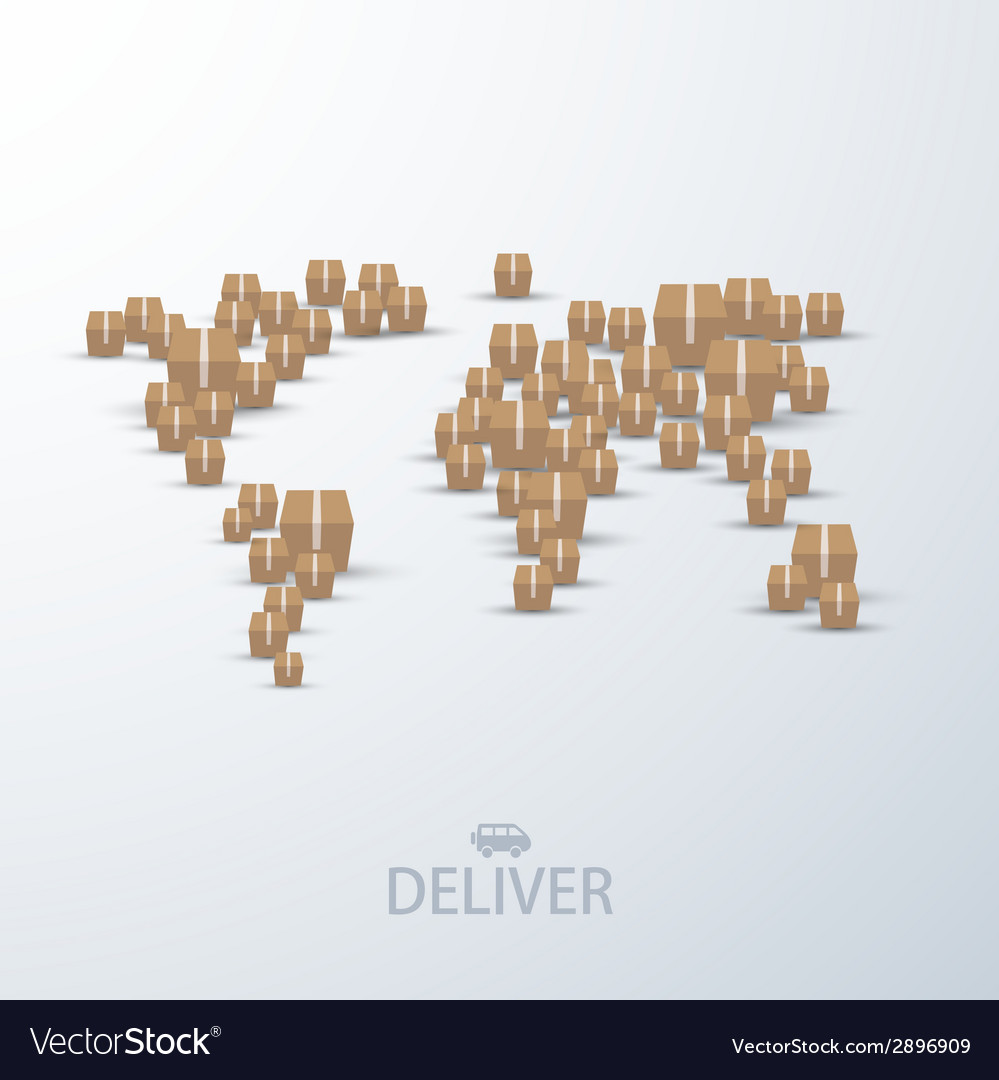 Modern concept delivery background vector
