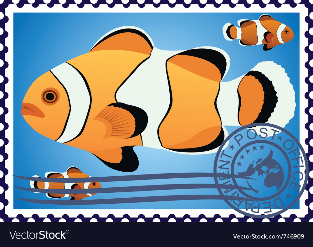 Postage stamp vector