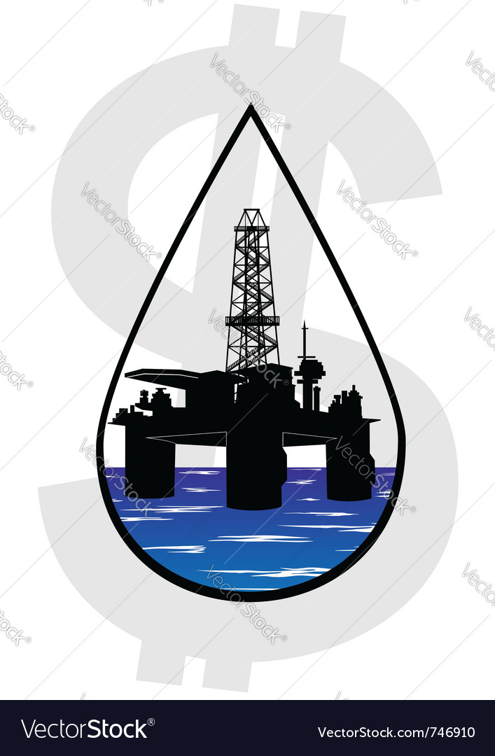 Crude oil production vector